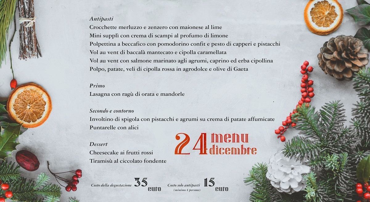 Menu Natale Vigilia 2021 Roma